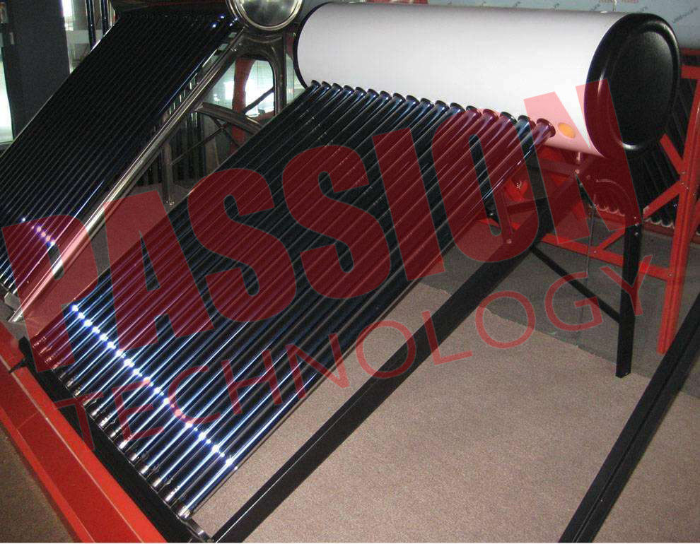 Galvanized Steel Homed Vacuum Tube Solar Water Heater Thermosiphon 200L Capacity