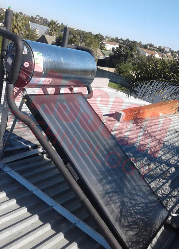 Pressure Blue Titanium Flat Plate Solar Geysers Flat Panel Solar Collector Home Heating