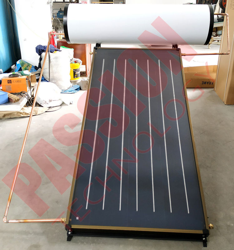 200L 150L Household Flat Plate Solar Thermal Water Heater, Blue Titanium Solar Collector